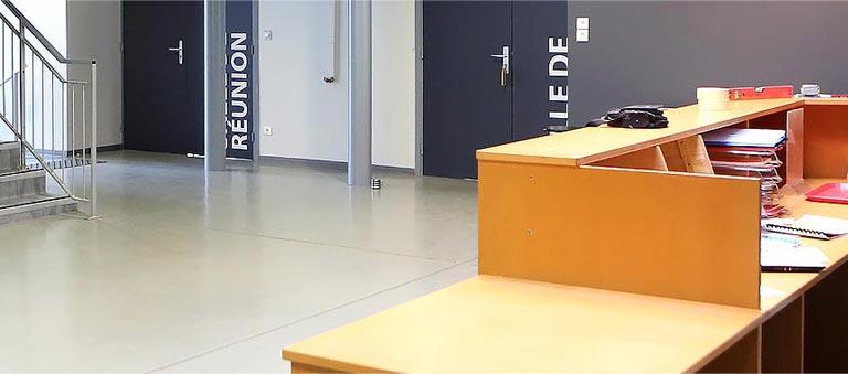 Hall d'entrée de l'auberge de Jeunesse de Mulhouse