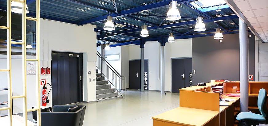Hall d'entré et accueil de l'Auberge de Jeunesse de Mulhouse