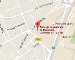 Trouver l'Auberge de Jeunesse dans le centre ville de Mulhouse